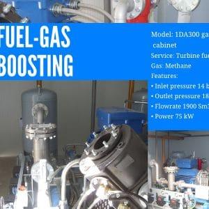 Fuel-gas-boosting