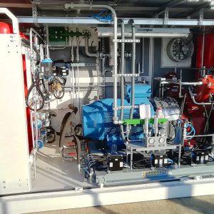 L'impianto di compressione DA300 dell'Area di Servizio Villoresi Est
