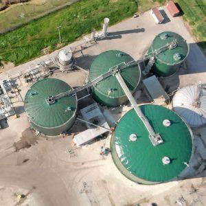 Vista dall'alto dell'impianto di BIOMETANO AVANZATO di Caviro
