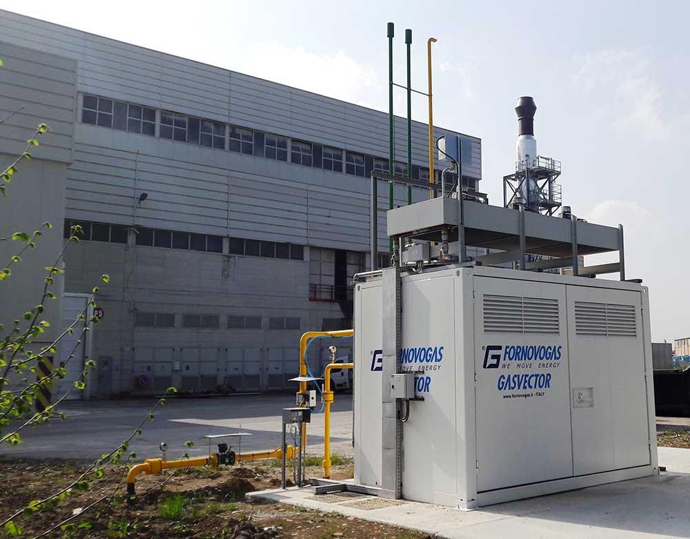 l'mpianto di cogenerazione industriale di Casalgrande Padana